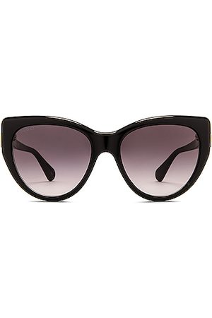Gucci Fork Cat Eye Sunglasses in Shiny