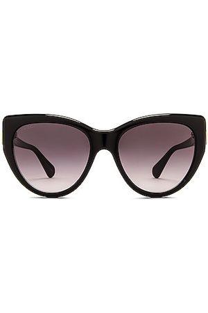 Gucci Fork Cat Eye Sunglasses in Shiny