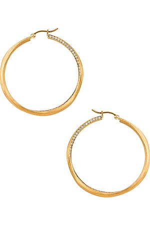 COMPLETEDWORKS Double Hoop Earrings in & Topaz