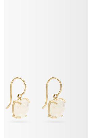 Irene Neuwirth Love Medium Rainbow-moonstone & 18kt Gold Earrings - Womens
