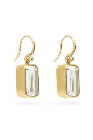 Irene Neuwirth Diamond, Aquamarine & 18kt Gold Drop Earrings - Womens