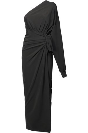 Balenciaga Viscose Jersey One-shoulder Wrap Dress