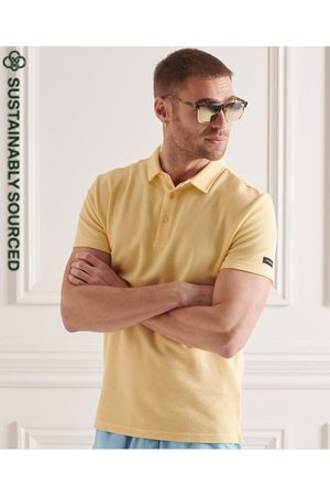 Superdry Men Polo Shirts - Organic Cotton Textured Jersey Polo Shirt