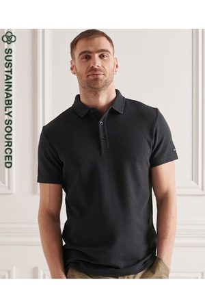 Superdry Men Polo Shirts - Organic Cotton Textured Jersey Polo Shirt