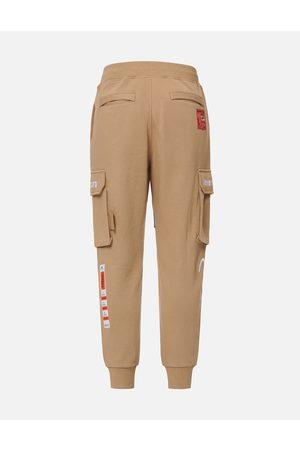 Evisu Men Cargo Trousers - Woven Label Cargo Sweatpants
