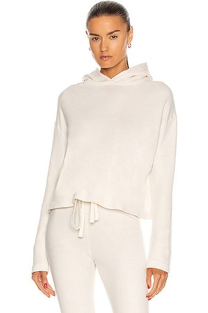 ENZA COSTA Women Sweatshirts - French Terry Cropped Hoodie in Unbleached
