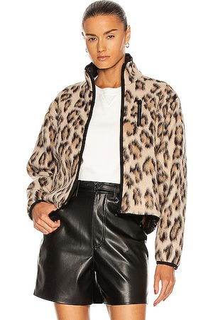 JOHN ELLIOTT Polar Fleece Jacket in Cheetah