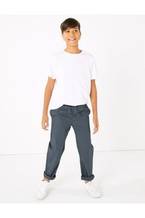 Marks & Spencer Boys 2 Pack Cotton Ripstop Trousers (6-16 Yrs) - 6-7 Y - Multi, Multi