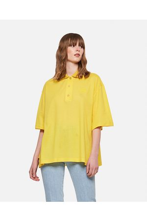 Loewe Women Polo Shirts - Cashmere and cotton Oversized Anagram polo shirt size 32