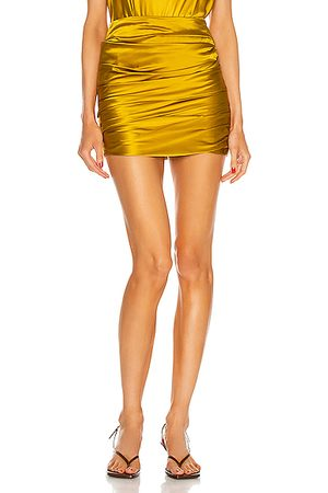 The Sei Pleated Mini Skirt in Cider