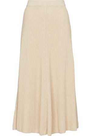 Joseph Women Midi Skirts - Ribbed-knit cotton midi skirt