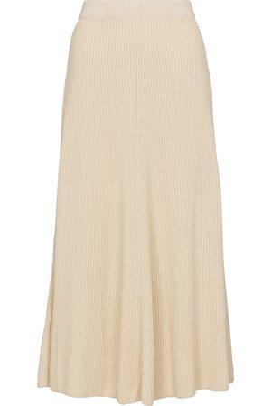 Joseph Women Midi Skirts - Ribbed-knit cotton midi skirt
