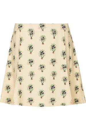 Chloé Floral crêpe miniskirt