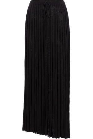 CHRISTOPHER ESBER Pleated knit midi skirt