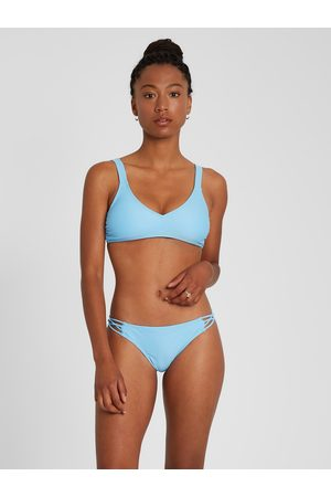 Volcom Women's Simply Solid Vneck Bikini Top - Coastal