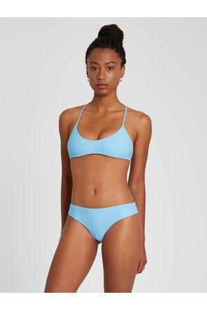 Volcom Women's Simply Solid Scoop Bikini Top - Coastal