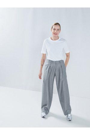 Raey Wide-leg Wool-blend Trousers - Womens