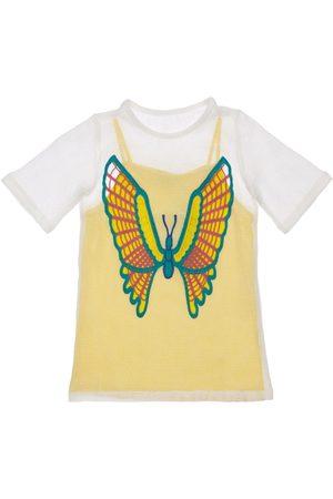 Stella McCartney 2-in-1 Mesh Dress W/ Butterfly Crochet