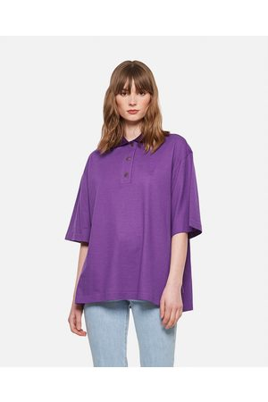 Loewe Cashmere and cotton Oversized Anagram polo shirt size 32