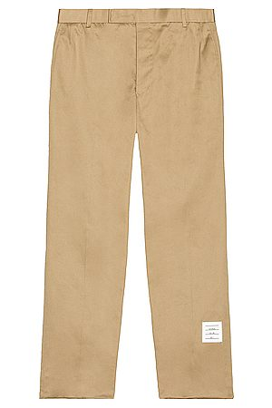 Thom Browne Unconstructed Chino Trouser in Camel