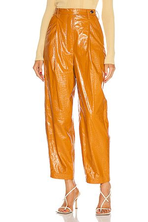REMAIN Cleo Leather Pant in Topaz