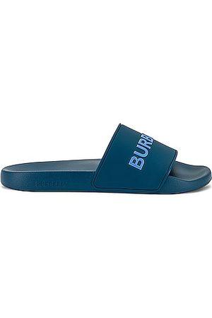 Burberry Furley Slide Sandal in Dark Cerulean