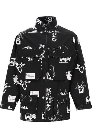 Kenzo SIGN & SYMBOL PARKA L Cotton