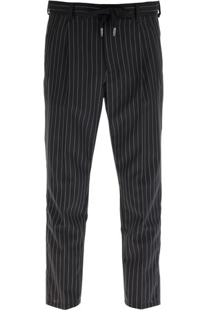 Dolce & Gabbana PINSTRIPED WOOL JOGGING TROUSERS 46 , Wool