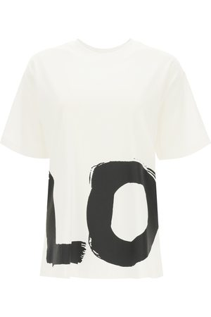 Burberry CARRICK OVERSIZED T-SHIRT WITH LOVE PRINT L , Cotton