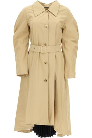 A.W.A.K.E. MODE TRENCH COAT WITH PLEATED INSERT 34 Cotton
