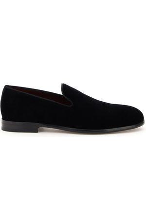 Dolce & Gabbana LEONARDO VELVET LOAFERS 39 Leather