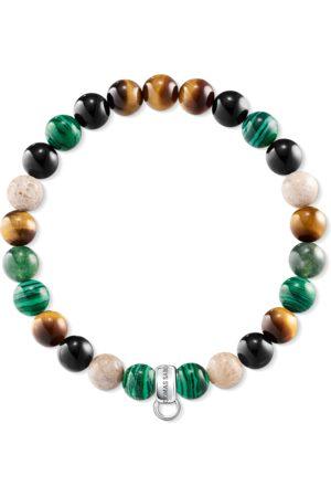 Thomas Sabo Charm bracelet brown, green, white multicoloured X0217-947-7-L15,5