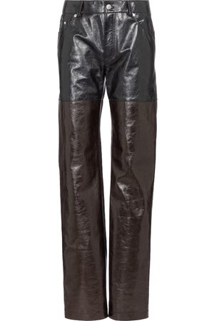 Peter Do High-rise straight leather pants