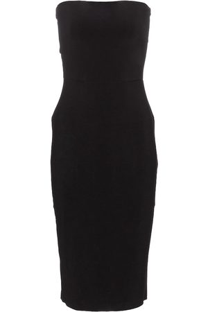 Norma Kamali Stretch-jersey strapless midi dress