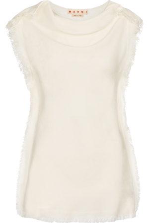 Marni Fringed sleeveless top
