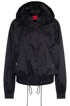 HUGO BOSS Women Blazers - Water-repellent blouson jacket with drawstring hood