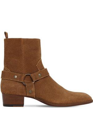 Saint Laurent Wyatt Harness Suede Boots