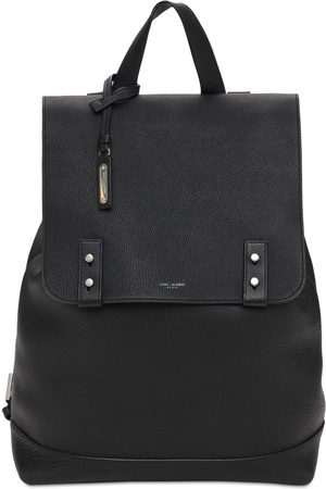 Saint Laurent Logo Sac De Jour Leather Backpack