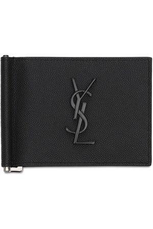 Saint Laurent Monogram Leather Wallet W/ Bill Clip