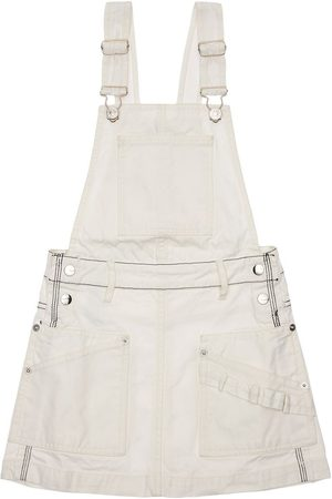 Diesel Cotton Canvas Overall Dress