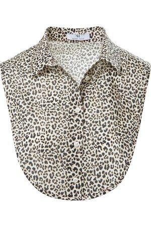 Peter Hahn Blouse collar leopard skin pattern multicoloured size: 001