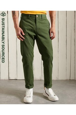 Superdry Men Chinos - Organic Cotton Core Slim Chino Trousers