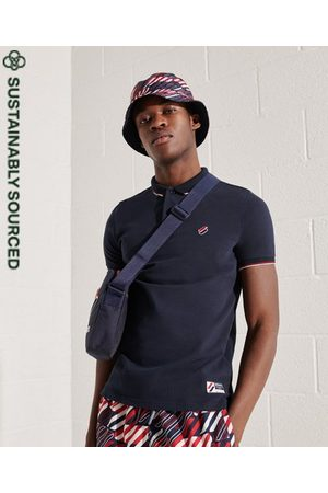 Superdry Men Polo Shirts - Organic Cotton Sportstyle Twin Tipped Polo Shirt