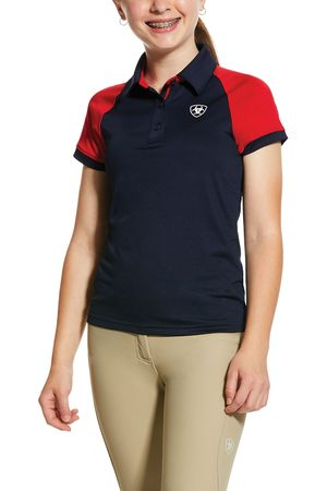 Ariat Polo Shirts - Kid's Team 3.0 Polo Shirt in Navy