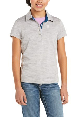 Ariat Kid's Laguna Button Polo Shirt in Heather