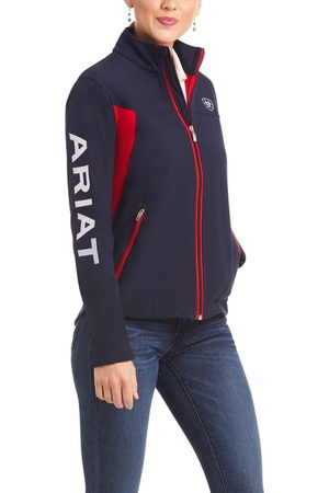 Ariat Women's New Team Softshell Jacket Long Sleeve Fleece in