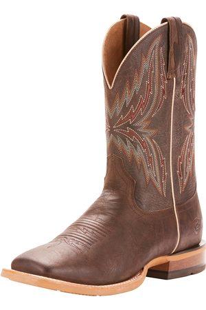 Ariat Men's Arena Rebound Western Boots in Branding Iron Brangus Leather