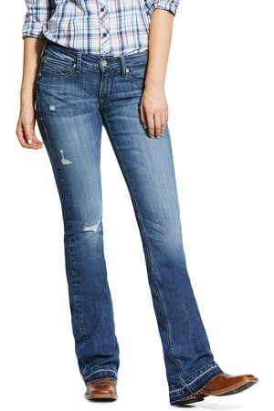 Ariat Women's R.E.A.L. Mid Rise Stretch Melissa Boot Cut Jeans in Capitola Cotton