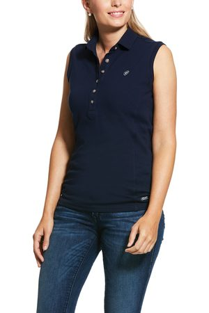 Ariat Women's Prix 2.0 Polo Shirt in Navy Cotton