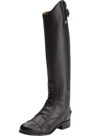 Ariat Girls High Leg Boots - Kid's Heritage Contour Field Zip Tall Riding Boots in Leather